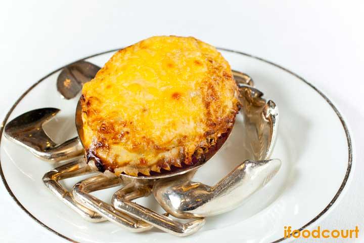 巴馬火腿芝士焗釀蟹蓋