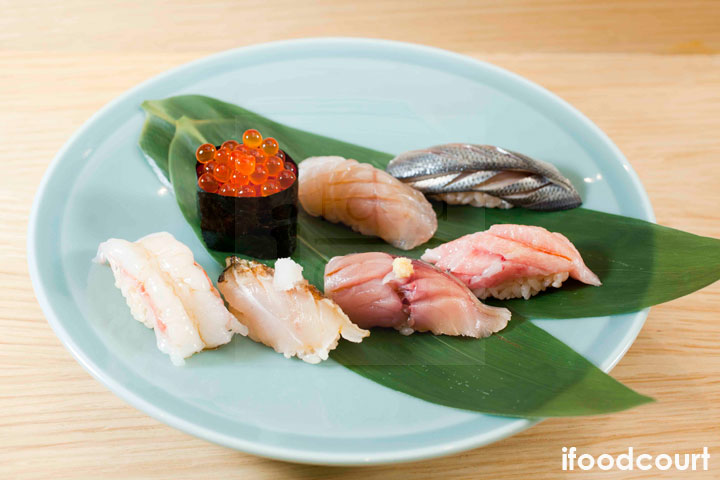 昆布漬鱸魚壽司